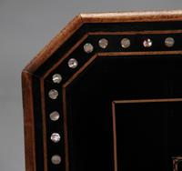 19th Century ebony and inlaid occasional table (9 of 9)