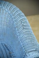 Blue Wicker Sofa (9 of 10)