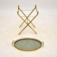 Vintage French Brass Folding  Side Table (7 of 8)