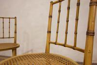 A Pair Of Late 19th Century Painted Faux Bamboo Side Chairs (6 of 11)