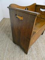 Liberty Arts & Crafts Oak Hall Bench (4 of 11)