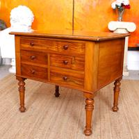 Walnut Chest of Drawers Victorian Side Cabinet 19th Century (4 of 11)