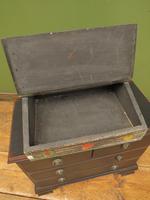 Shabby Chic Folk Art Painted Writing Slope Box with Fruit, Recipe Storage (4 of 14)