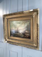 Antique Victorian marine seascape oil painting (1 of 2) (8 of 10)