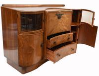 Art Deco Drinks Cabinet Walnut Vintage 1930s (11 of 16)