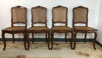 Vintage French Set of 6 Cherrywood Bergère Cane Dining Chairs with Carvers (9 of 14)