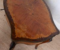 Serpentine Writing Table Louis XVI Style Inlaid Kingwood (6 of 19)