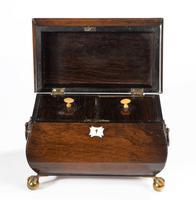George III Period Mahogany Bombay Caddy (6 of 6)