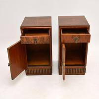 Pair of Art Deco Burr Walnut Bedside Cabinets (9 of 12)