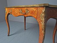 Antique Victorian Inlaid Kingwood Writing Table (8 of 14)