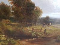Country Scene with Hay Cart by Charles Thomas Burt (14 of 14)