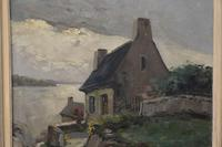 Old Cottage Overlooking The Coast - Oil on Canvas (8 of 10)