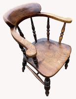 19th Century Smokers Bow Armchair (4 of 4)