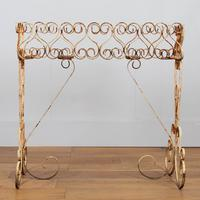 Wonderfully Aged 1950s Wrought Iron Plant Stand (7 of 12)