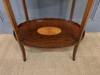 Edwardian Inlaid Mahogany 2 Tier Table (5 of 10)