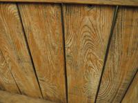 Antique Elm Tavern Bench Settle, Rustic Hall Seat (8 of 19)