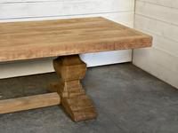 Enormous French Bleached Oak Farmhouse Dining Table (37 of 38)
