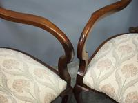 Art Nouveau Style Inlaid Mahogany Elbow Chairs (6 of 11)