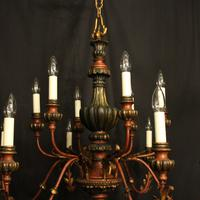Florentine 12 Light Polychrome & Toleware Chandelier (7 of 10)