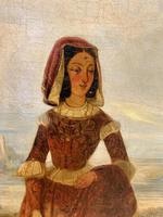 Huge 19th Century French Oil on Canvas Portrait (4 of 10)