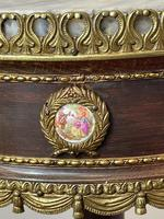 Decorative French Louis Revival Style Marble Top Side Table with Romantic Sèvres Plaques (3 of 38)