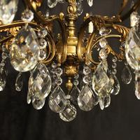 Italian Gilt Bronze 10 Light Antique Chandelier (8 of 10)
