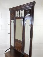 Antique Edwardian Mahogany Mirror Hall Stand (5 of 9)