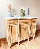 Large French Sideboard / Vintage Marble Sideboard / Buffet (2 of 7)