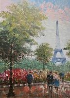 Lovely Pair of Original 20th Century French Parisian Gouache Cityscape Paintings (17 of 19)