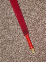 Antique Red / Orange Patterned Canopy Umbrella W/Red Velvet Handle & Canopy Cover (11 of 14)