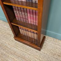 Tall Slim Victorian Mahogany Antique Open Bookcase (5 of 6)