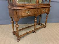 Burr Walnut Double Dome Topped Display Cabinet (12 of 18)