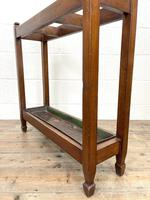 Antique Mahogany Three Section Stick Stand (8 of 8)