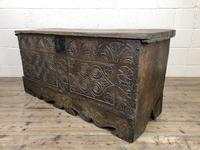 Antique Carved Oak Coffer or Blanket Box (8 of 11)