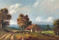 Large Fabulous Early 1900s British Farming Impressionist Landscape Oil Painting (3 of 13)