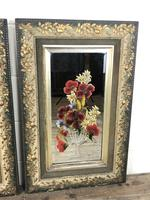 Pair of Antique Early 20th Century Hand Painted Gypsy Mirrors (5 of 5)