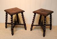 Pair Of Carved Oak Tables (8 of 9)