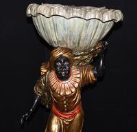 Pair of Venetian Blackamoor Figurines - Antique Clam Shell Planter Stands (5 of 11)