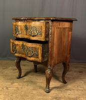 French Walnut Shaped Front Commode Chest (9 of 10)