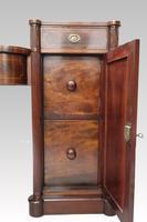 Georgian Figured Mahogany Pedestal Sideboard (8 of 14)