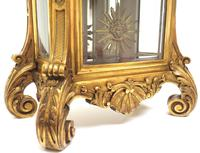Wow! Incredible French Gilt Mantel Clock Visible Pendulum Glass Panels 8 Day Mantle Clock (5 of 9)