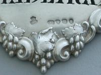 Victorian Cast Silver Bacchus Mask Wine Label 'Madeira' (6 of 10)
