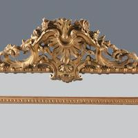 Large  French Gilt Overmantle Mirror (4 of 11)