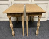 Pair of Bleached Oak Console Tables (3 of 16)