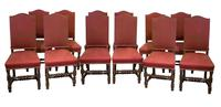 Set of 12 17th Century Style High Backed Chairs