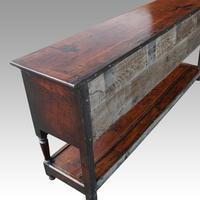 George III Oak Pot Board Dresser Base (9 of 13)