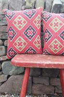 Early 20th Century, Antique Swedish Woven Textile, Geometric Patterned 're-stuffed cushions' (17 of 20)