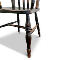 Antique Elm Lath Back Armchair (4 of 9)