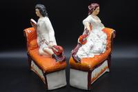 Unusual Pair of Mid 19th Century Staffordshire Reclining Figures (5 of 5)