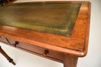 Antique Victorian Walnut Leather Top Writing Table / Desk (10 of 10)